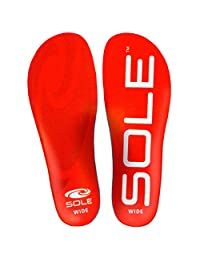 Sole Active Medium Volume Wide Width Footbed Insoles for Men and Women
