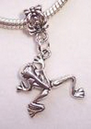 Glamorise Beads #14209 Frog Toad Animal 3D 2 Sided Dangle Bead for Silver European Style Charm Bracelet