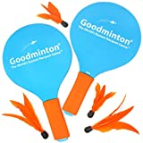 VIAHART Goodminton | The Worlds Easiest Racket Game | an Indoor Outdoor Year-Round Fun Paddle Game Set for Boys, Girls, and People of All Ages