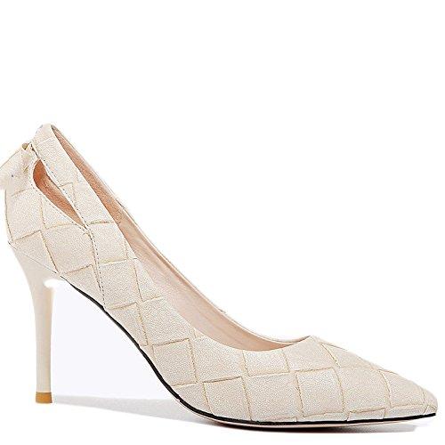Mujer Beige Trabajo Party Wedding 8cm De 37 Corte Zapatos De Nightclub Moda 5 La Altos Negro Tacones EU UK Profesional Bow Zapatos Sexy 4 Trabajo rXxFqrUv