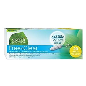 Seventh Generation - Chlorine Free Organic Cotton Tampons Regular