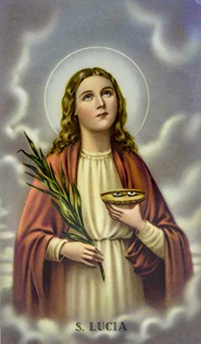 Good Shepherd Creations Laminated Holy Card with Traditional Art (Saint Lucy) ()