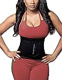 SHAPERX Waist Trainer Trimmer Slimming Belt Hot Neoprene Sauna Sweat Belly Band Weight Loss,SZ8010-Black-M