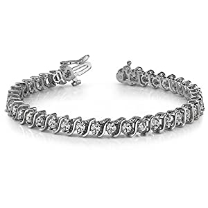 4.00 ct Round Cut Diamond Tennis Bracelet (S-Type)