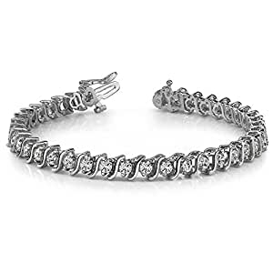 4.00 ct Round Cut Diamond S-Type Tennis Bracelet