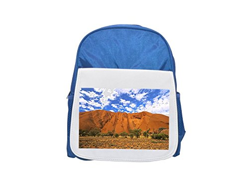 AUSTRALIA NORTHERN TERRITORY ULURU NATIONAL PARK ULURU AYERS ROCK printed kid's blue backpack, Cute backpacks, cute small backpacks, cute black backpack, cool black backpack, fashion backpacks, large