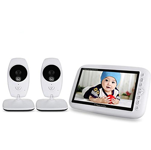 BW Wireless Baby Monitor - 7 inch Babyfoon Camera Wireless Video Baby...