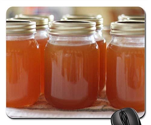 Mouse Pad - Jelly Peach Jelly Canning Preserve Homemade ()