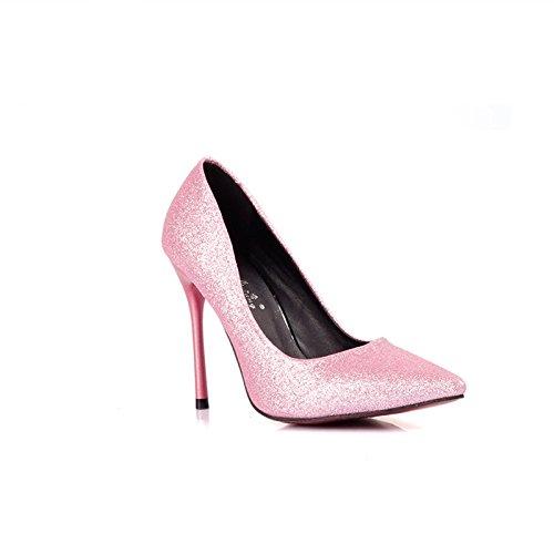 Rosa Superficial Fina Una Con Zapatos Tacón Con De De GAOLIM De Boca Shoes Alto 8Cm Solo Más Tacón Heel Zapatos Alto Alta Zapatos Punta De O Hembra Zapatos Tacón Tnn7xvf