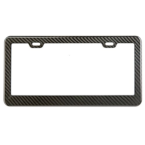 - Carbon Fiber License Plate Frame (Gloss-Black)