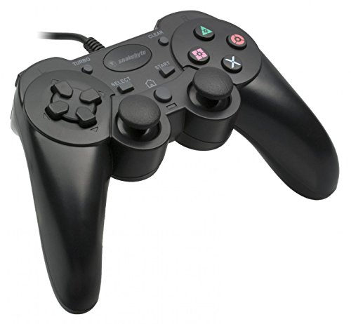 Snakebyte Wired Controller - Gamepad Including Vibration & Turbo Feature - Cable Length: 2m - Black - PlayStation 3 (3 Turbo Playstation Controller)