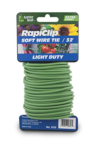 Luster Leaf 858 Rapiclip Soft Wire Tie Light Duty, 32', Green