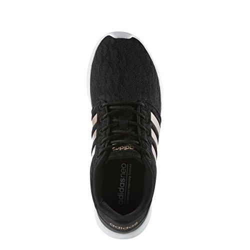 adidas Neo Women's CF QT Racer W Sneaker, Core Black, Copper Met, Ftwr White, 6 M US