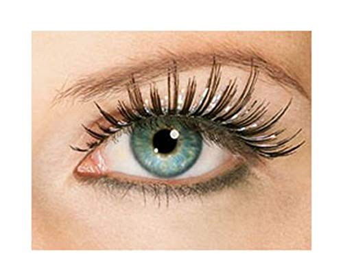 Women's Sexy Long Black Holographic Sparkle Fake Costume Eyelashes]()