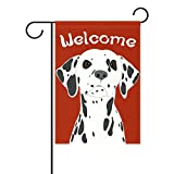 My Daily Dalmatian Dog Welcome Decorative Double Sided House Flag 28 x 40 inches