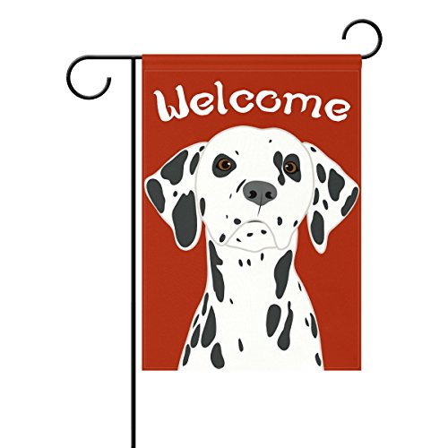 My Daily Dalmatian Dog Welcome Decorative Double Sided Garden Flag 12 x 18 inches