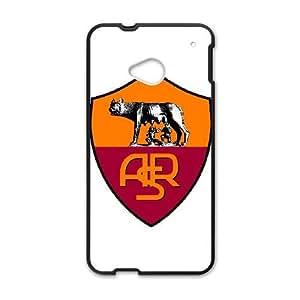 As Roma Logo 006 HTC One M7 Cell Phone Case Black TPU Phone Case RV_529556