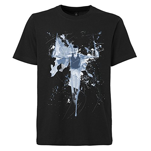 Turnen schwarzes modernes Herren T-Shirt mit stylischen Aufdruck