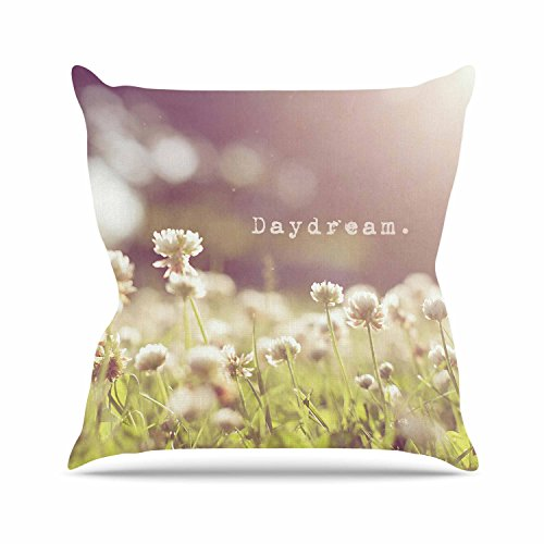 Kess InHouse Angie Turner Daydream Floral Green Outdoor Throw Pillow, 16