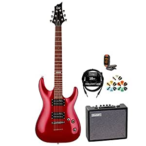 esp h jb h 51 bch kit 4 electric guitar with tuner picks cable and guitar amp. Black Bedroom Furniture Sets. Home Design Ideas