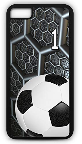 iPhone 8 Phone Case Soccer SC038Z by TYD Designs in Black Rubber Choose Your Own Or Player Jersey Number 1