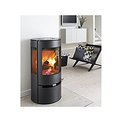 Aduro 9 - Estufa de leña (6 kW), color negro