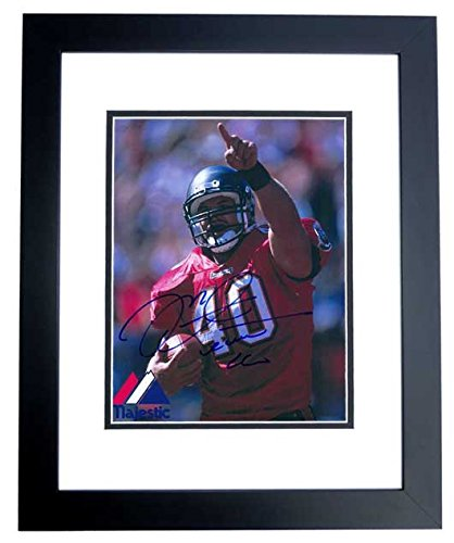 (Mike Alstott Signed - Autographed Tampa Bay Buccaneers BUCS 8x10 inch Photo BLACK CUSTOM FRAME - Guaranteed to pass PSA/DNA or JSA)