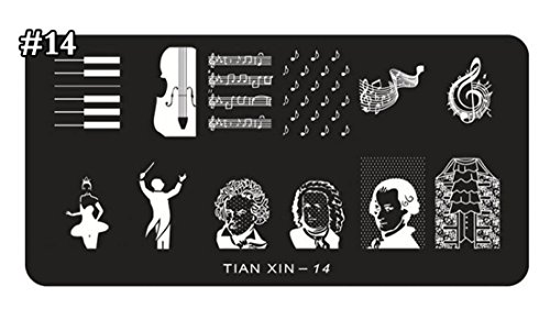 1-Sets Magnificent Popular New Nail Art Stampers Decoration Steel Plate Stamp Manicure Model Type Tian-Xin-14 (Expresso Plate compare prices)