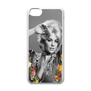 Celebrities Kate Upton V Magazine iPhone 5c Cell Phone Case White toy pxf005_5767904