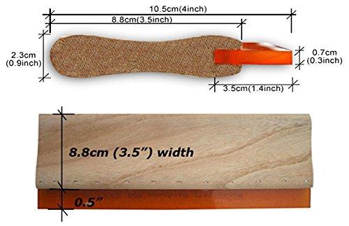 6 pcs 13 //33cm Silk Screen Printing Squeegee Ink Scraper Silk Stencil Printing DIY 75 Durometer Kick Plate Scratch Board Blade