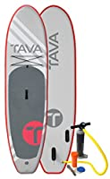 "Tava 10ft Inflatable Stand Up Paddle Board with Pump and Aluminum Paddle (6"" Thick) by ISLE Surf and SUP"
