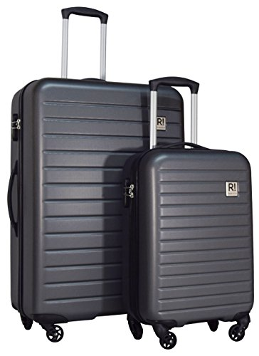 Revelation! Dominica 2-Piece Expandable Upright Hardside Spinner Luggage Set: 31'' and 22'' (Charcoal) by Revelation!