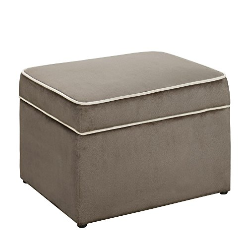 Dorel Asia The Sydney Nursery Microfiber Storage Ottoman, Brown by Dorel Living