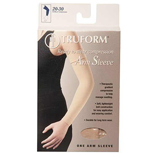 Truform Lymphedema Arm Sleeve, 20-30 mmHg Compression, Women's Post Surgical Garment, Mastectomy Swelling Management, Soft Microfiber, Medical Grade Support, Beige, Small by Truform (Image #3)
