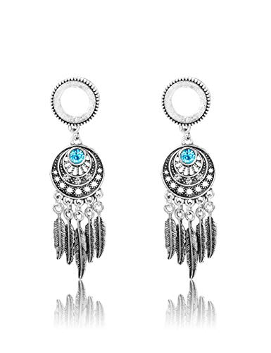 - Jstyle 2Pcs Stainless Steel Screwed Ear Gauges Tunnels Plugs Earrings Dangle Tribal Expanders Stretchers for Ear Piercing 00G