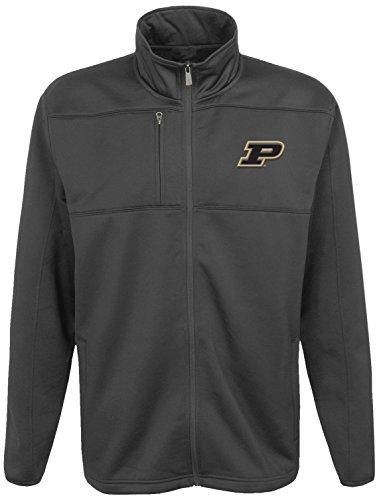 NCAA Purdue Boilermakers Men's''Superior'' Bonded Full Zip Fleece Jacket, Charcoal Grey, Men's X-Large by Gen 2