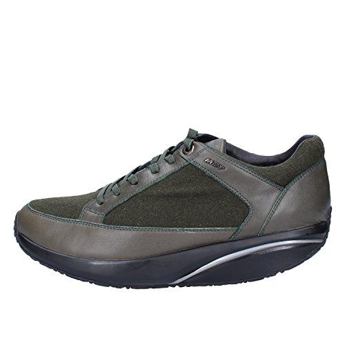 MBT Zapatos Elegantes Hombre 42 EU Verde Cuero Textil