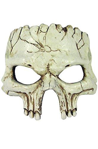 Skull Mask Halloween - Forum Novelties Unisex-Adult's Half Mask-Foam Skull,