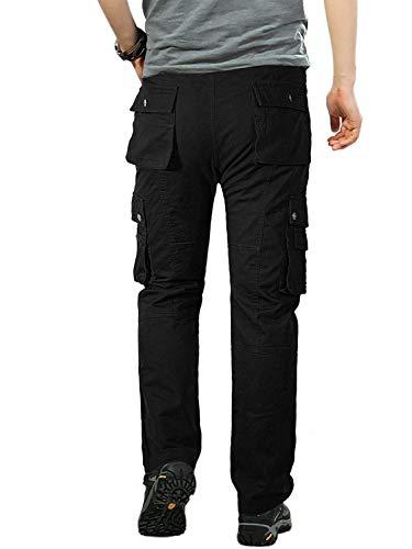Negro Bobolily Sólidos Carga De Elástica Colores Con Casuales Pantalones Para Hombres Deportivos PZPwUqSgx