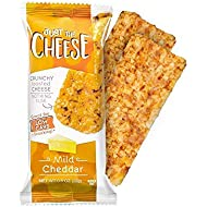 Just the Cheese Bars, Crunchy Baked Low Carb Snack Bars. 100% Natural Cheese. High Protein and Gluten Free (Mild Cheddar, 12 Two-Bar Packs)