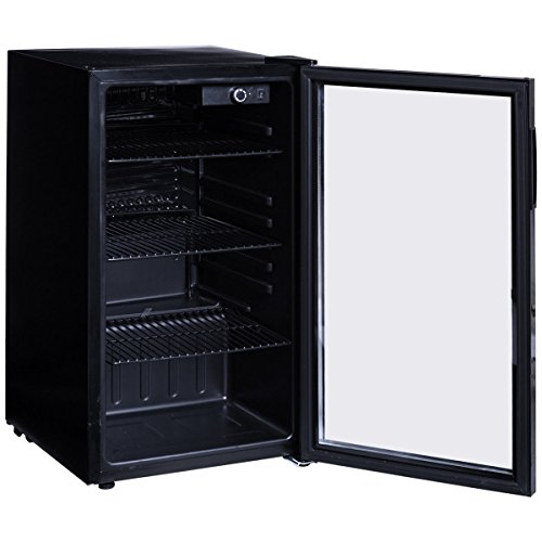Costway 120 can beverage refrigerator portable beer wine - Amazon porta vino ...