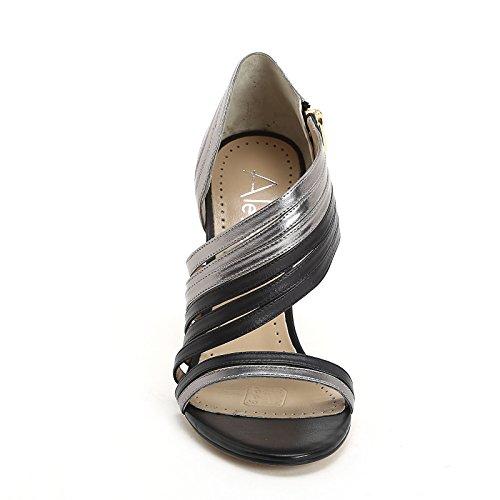 ALESYA by Scarpe&Scarpe - Sandalias altas con bandas, de Piel, con Tacones 10 cm Negro