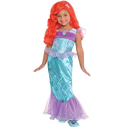 Costumes USA The Little Mermaid Ariel Costume for Girls, Size 2T, Featuring Purple Mesh and a Character Cameo -