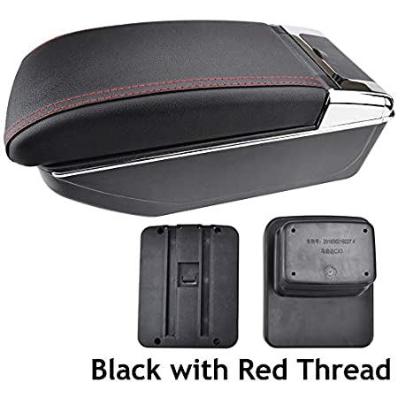 Dual-Layer Black Leather Arm Rest For CX-3 2015-2018 Centre Console Storage Box Armrest XUKEY