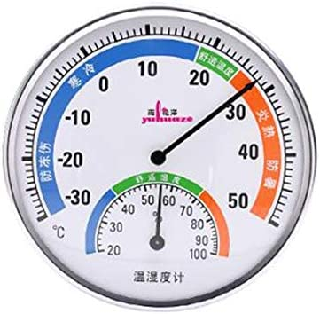 QIANZICAI 温度計、ホーム屋内温度計、高精度温度と湿度計、高精度屋内と屋外の温度ウォールは、温度計を取り付けました キッ