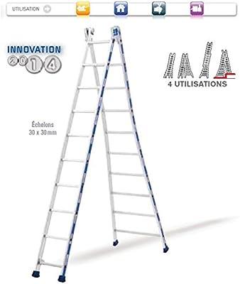 Tubesca – Escalera aluminio transformable 2 x 12 Alto. Max 6,90 M – Platinium 2442112: Amazon.es: Bricolaje y herramientas