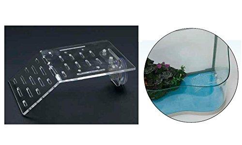 4 opinioni per Sali-scendi per tartarughe- Piattaforma in plexiglass, isola con ventosa da