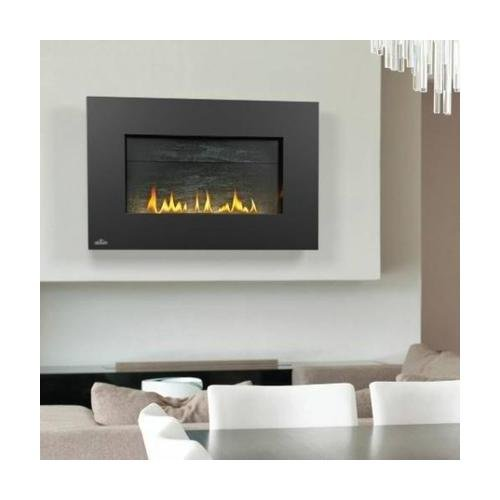 Plazmafire VF31 Series WHVF31N Vent Free Natural Gas Fireplace with Electronic Ignition Up to 20 000 BTU's Pan Style Burner Topaz CRYSTALINE Ember Bed and Catalytic Filtering Tiles
