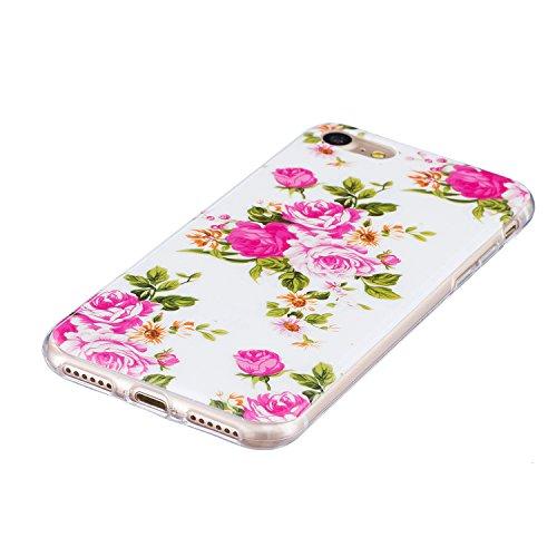 """iPhone 7 Plus Schutzhülle , LH Pfingstrose TPU Weich Muschel Tasche Schutzhülle Silikon Hülle Schale Cover Case Gehäuse für Apple iPhone 7 Plus 5.5"""""""