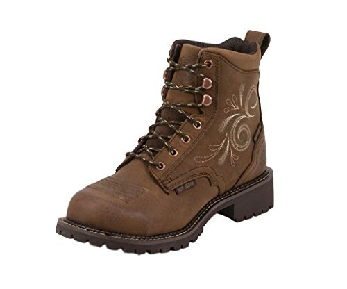 Justin Ladies Aged Bark - Justin Original Work Boots Aged Bark Size